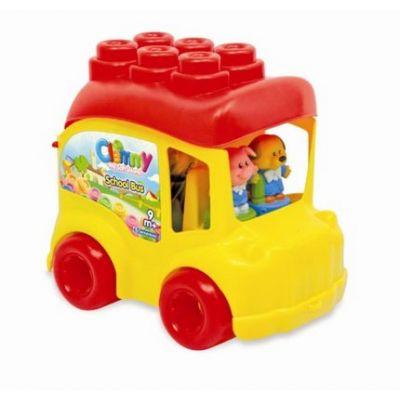 Clementoni - Set cuburi autobuz scoala