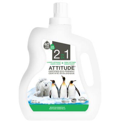 Attitude - 2 in 1 detergent si balsam rufe Esenta Montana 1800 ml