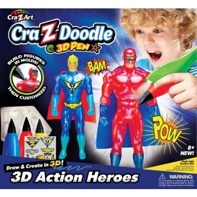 Cra Z Art - Set creatie 3D Action Heroes