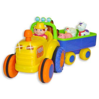 Miniland - Jucarie tractor cu animalute