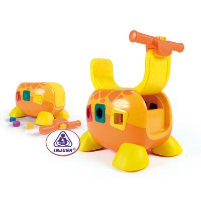 Injusa - Jucarie educativa Girafe Storage Rider