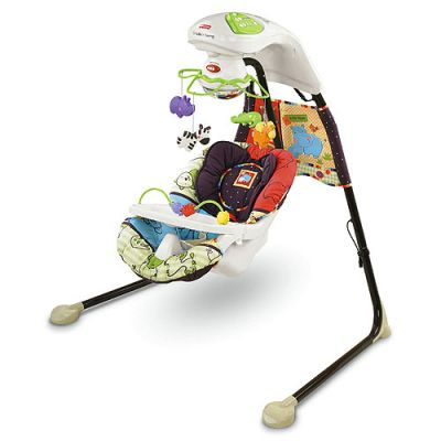 Fisher Price - Leagan Love u Zoo Cradle 'n Swing