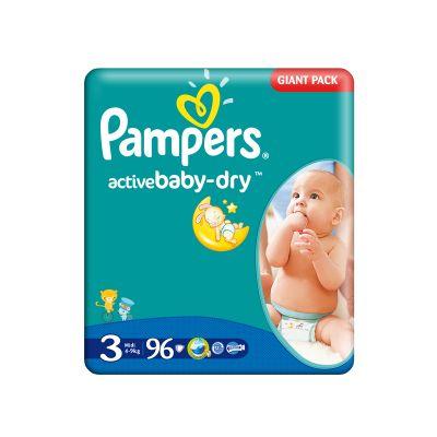 Pampers - Scutece numarul 3 Active Baby 96 buc