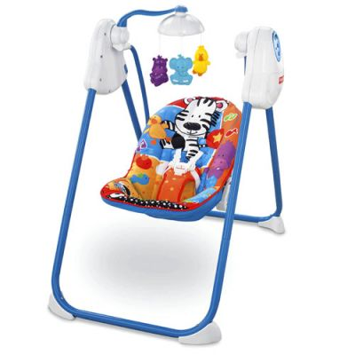 Fisher Price - Leagan Adorable Animals Fold 'n Stow Swing