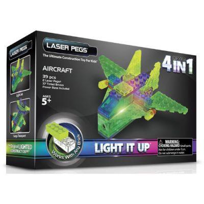 Laser Pegs - Kit Constructie cu Lumini Laser 4 in 1 - Aeronava