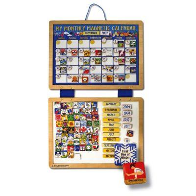 Melissa&Doug - Calendar din lemn magnetic
