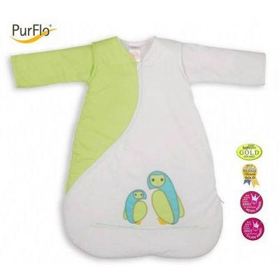 PurFlo - Sac de dormit brodat 3-9 luni kiwy
