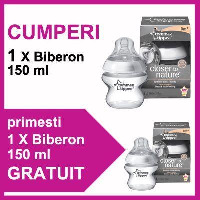 Tommee Tippee - Biberon 150 ml + Biberon 150 ml PROMO