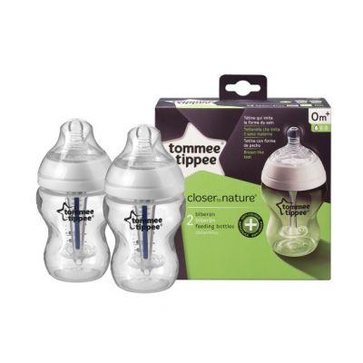 Tommee Tippee - Set 2 Biberoane Anticolici cu sistem ventilatie 260ml