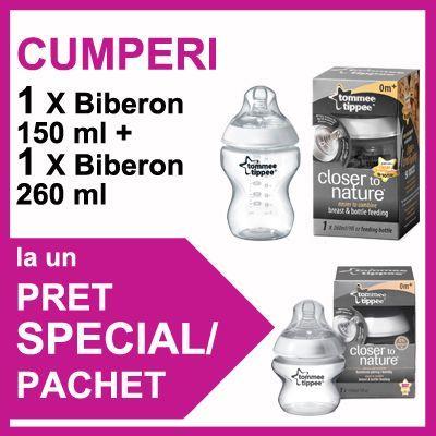 Tommee Tippee - Biberon 260 ml + Biberon 150 ml PROMO