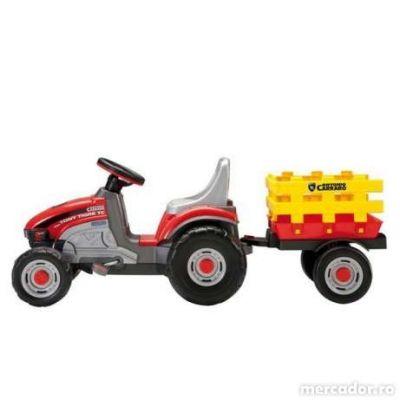 Peg Perego - Tractoras Mini Tony Tigre cu remorca