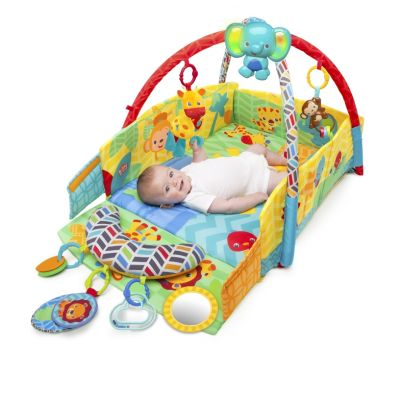 Bright Starts - Salteluta de joaca 5 in 1 Sunny Safari Babys Play Place
