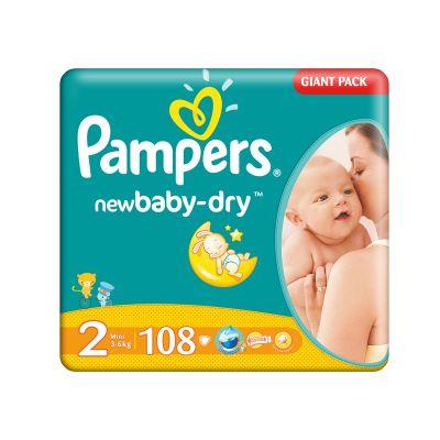 Pampers - Scutece numarul 2 New Born 108 buc