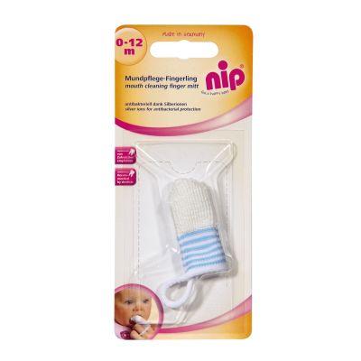Nip - Periuta de dinti antibacteriana cu ioni de argint pentru deget 0-12 luni