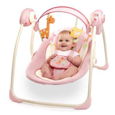 Bright Starts - Comfort & Harmony Portable Swing Girafaloo