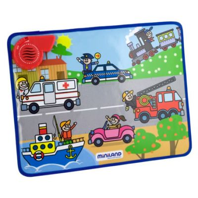 Miniland - Tabla cu sunetele vehiculelor
