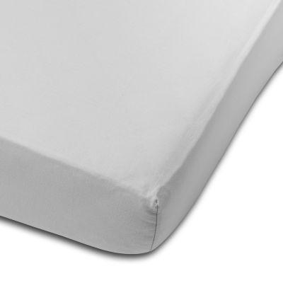 Cearceaf din bumbac cu elastic roata pentru patut 120x60 cm Kidizi Grey
