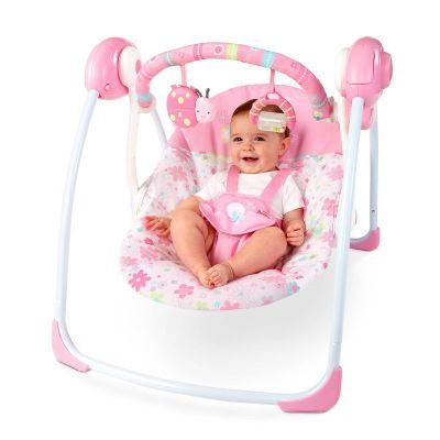 Bright Starts - Leagan portabil Pretty in Pink Blossomy Blooms