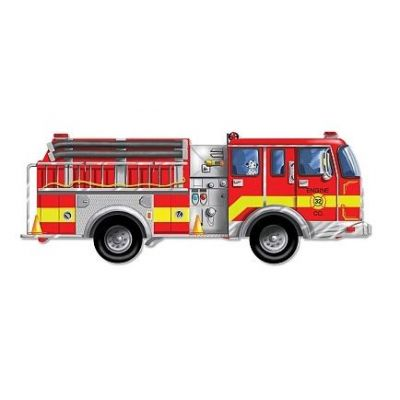 Melissa&Doug - Puzzle de podea gigant Masina de pompieri
