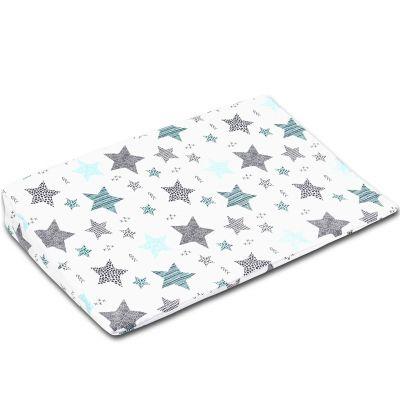Perna antireflux cu husa detasabila bumbac 40x59 cm Kidizi All Mint Stars