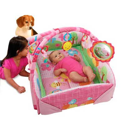 Bright Starts - Salteluta joaca 5 in 1 Garden Fun Baby's Play Place Deluxe