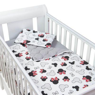 Set perna bebelus si plapumioara matlasata 100x75 cm Kidizi Minnie