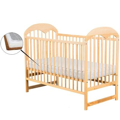 BabyNeeds - Patut din lemn Oskar 120x60 cm + Saltea
