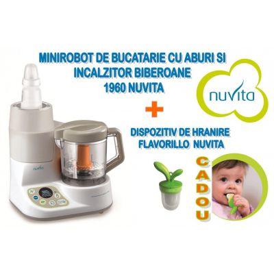 Nuvita - Minirobot de bucatarie + Cadou dispozitiv de hranire Flavorillo