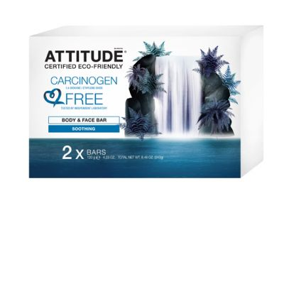 Attitude - Sapun solid pentru fata si corp calmant 2 buc.