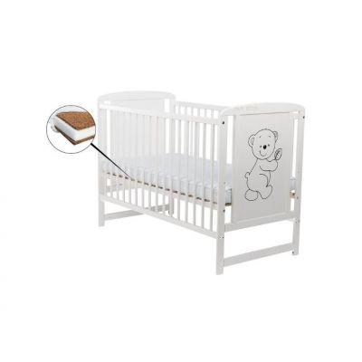 Baby Needs - Patut din lemn Timmy 120x60 cm + saltea