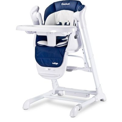 Caretero - Scaun de masa 2 in 1 cu leagan electric Indigo