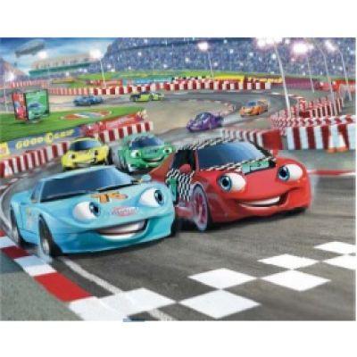 Walltastic - Tapet pentru copii Car Racers