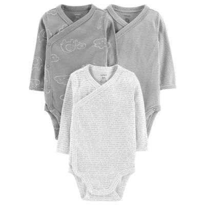 Set body 3 piese cu capse laterale 100% bumbac Carters