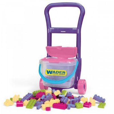 Wader - Carucior cu piese lego