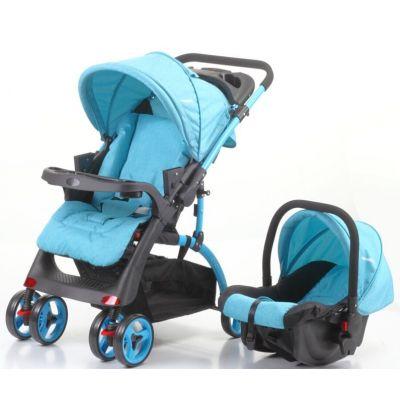 Mama Kids - Carucior maner reversibil si scaun auto Nola