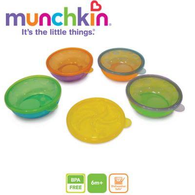 Munchkin - Set 4 castroane cu capac