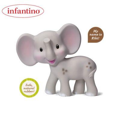 Infantino - Jucarie de dentitie cauciuc natural Elefantel Gaga