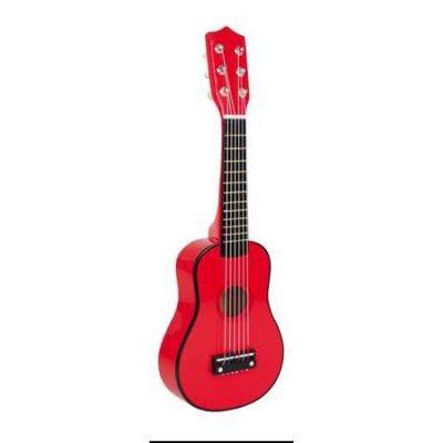Legler - Chitara lemn rosie