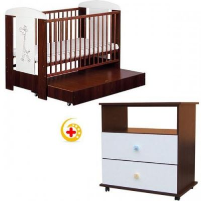 Baby Dreams - Patut cu sertar Jungle + Comoda