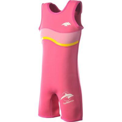 Konfidence - Costum inot copii din neopren Warma Wetsuit Pink