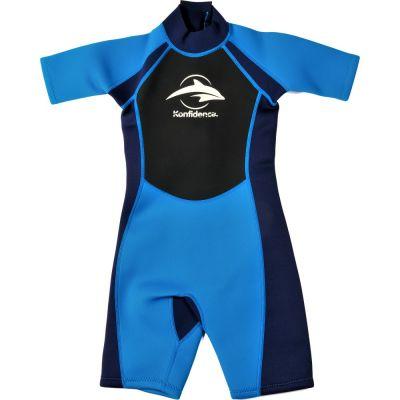 Konfidence - Costum inot din neopren pentru copii Shorty Wetsuit blue