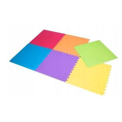Covoras de joaca termic multicolor XXL 180x120 cm, tip puzzle