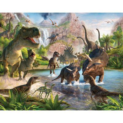 Walltastic - Tapet pentru copii clasic Dinosaur Land
