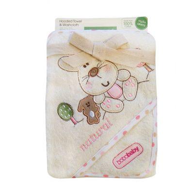 Bobobaby - Prosop bebe cu gluga Elisa Pink Rabbit