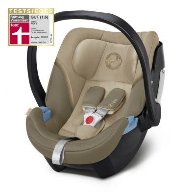 Scoica auto Cybex Aton 5 pentru bebelusi prematuri Classic Beige