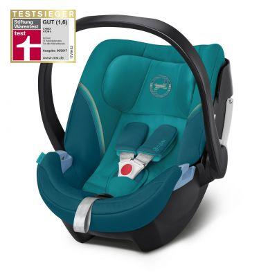 Scoica auto Cybex Aton 5 pentru bebelusi prematuri River Blue