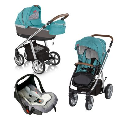 Espiro Next - Carucior multifunctional 3 in 1 Manhattan - Florida Turquoise
