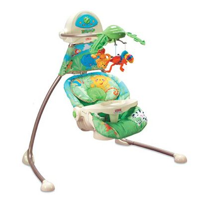 Fisher Price - Leagan Rainforest Open Top Cradle