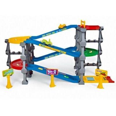 Wader - Garaj cu străzi 3D Kid Cars pe 5 nivele şi lungime de 3,7m