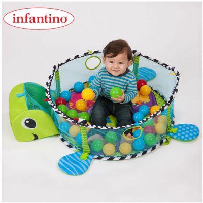 Infantino - Salteluta de activitati Grow With Me cu mingiute
